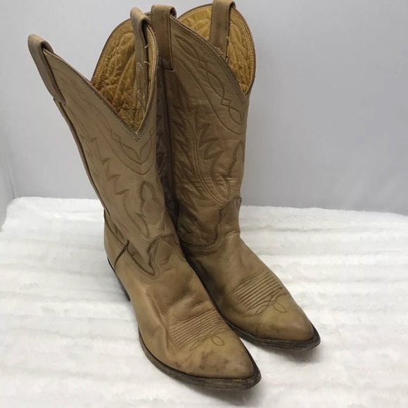 94c7b70271f Vintage Nocona Womens Cowboy Leather Tan Boots